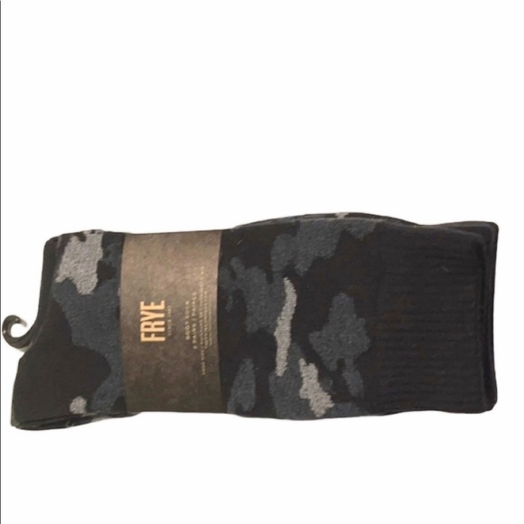 Frye boot socks 90% cotton camo and plain